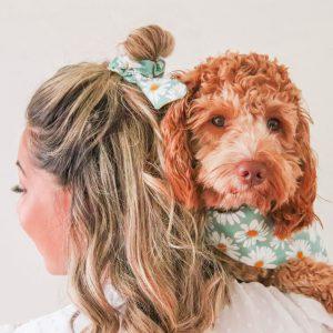 Sweet Daisies Turqouise - haarband bandana 2